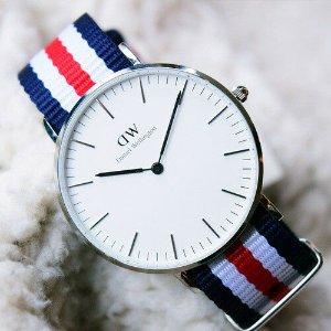 6.4折 $154.59(原价$241.99)Daniel Wellington 坎特伯雷学院风时尚手表 带上秒变文艺青年