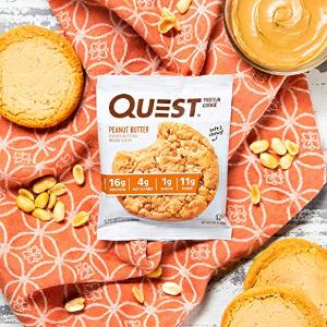 $12.8 (原价$29.98) 1个仅$1Quest 高蛋白花生酱饼干 12个 可做代餐减肥必备