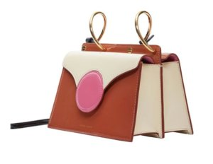 Danse Lente Mini Phoebe Colorblock Shoulder Bag, Brown/Pink