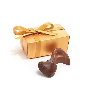 Godiva爱心巧克力 金色礼盒包装 两粒装