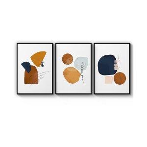 Minimal Shape Abstract Wall Art Prints无框3副