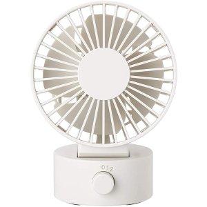 白色 不可摇头桌面电风扇