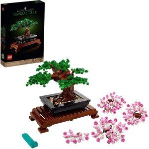 仅€49.99收 精美装饰LEGO 人气植物盆景补货 可变换樱花粉树叶 应景四月春