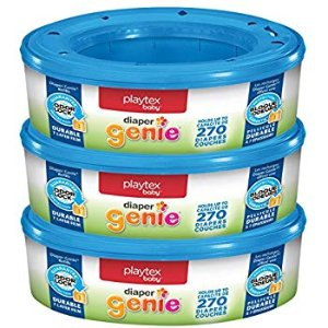 Amazon.com: Playtex Diaper Genie Refill Bags, Ideal for Diaper Genie Diaper Pails, 3 Pack, 810 Count: Health & Personal Care