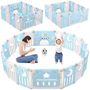 Dripex 儿童安全围栏 14片 蓝色