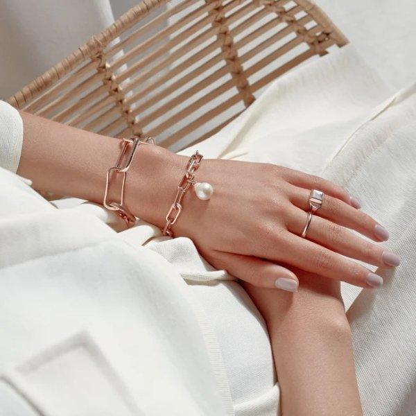 Alta玫瑰金珍珠手链
