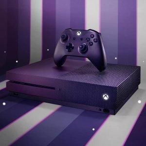 $249.99(原价$299.99)Xbox One S 1TB 《堡垒之夜》最新限定版套装 灭霸紫
