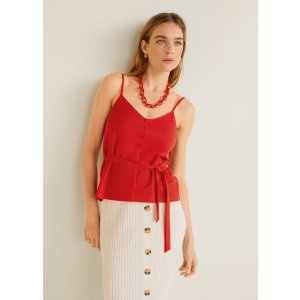 MangoSpaghetti strap top - Women | OUTLET USA