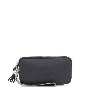 Kipling$15 with purchase of $75+Wristlet - Night Grey