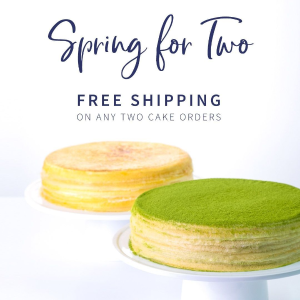 买任意两款蛋糕立享免邮LadyM官网 春季限时活动,网红千层蛋糕陪你甜蜜迎春天