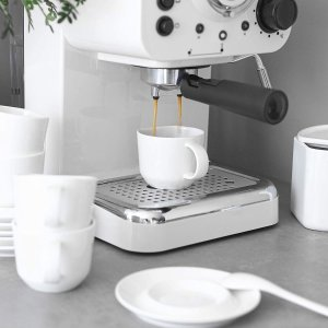 DOWAN Espresso Cups and Saucers Sets, 4.2 oz
