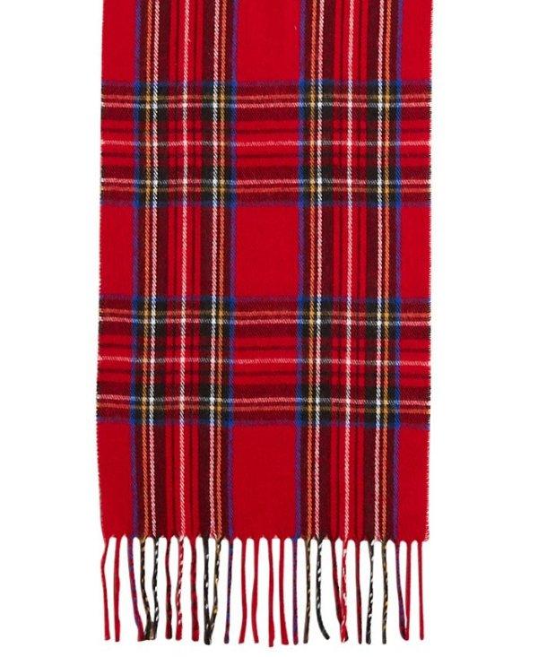 格纹流苏围巾