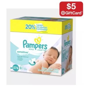$5 GCwith Select 2 Baby Wipes @ Target.com