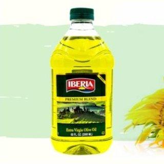 $6.47 下厨必备Iberia 特级初榨橄榄油+葵花籽油 2升