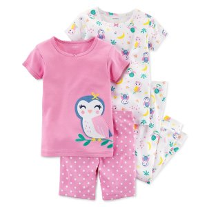 $2.33起 封面睡衣4件套$10.13Carters 童装促销低至6折 + 额外8折
