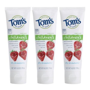 $8.46Tom's of Maine Anticavity Fluoride Children's Toothpaste, Silly Strawberry, 4.2 Ounce, 3 Count