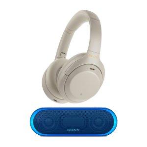 SonyXM4 全新旗舰蓝牙降噪耳机 + XB20 蓝牙音箱套装