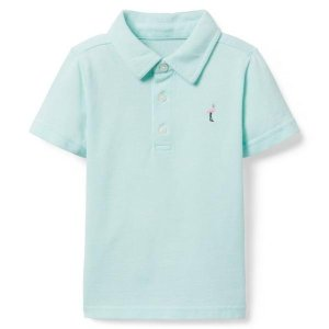 Janie and JackEmbroidered Pique Polo