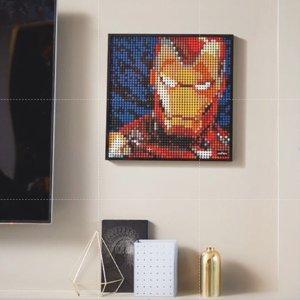 $119.97收梦露肖像画LEGO Art 艺术系列装饰画 钢铁侠 甲壳虫乐队 梦露 星战 全套