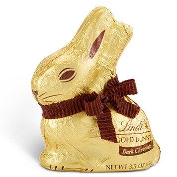复活节金兔子黑巧克力 共16个