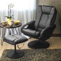 Best Choice Products 电动按摩躺椅 带脚凳 黑色