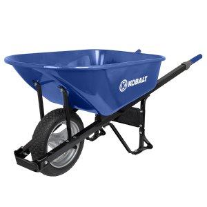 Kobalt 6-cu ft Steel Wheelbarrow with Flat-Free Tire