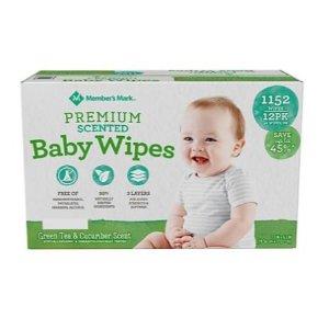 直减$8 湿巾(1152片)$10收Sam's Club Mark Premium 宝宝尿布/湿巾热卖