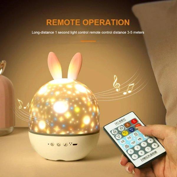 可爱兔子造型带音乐夜灯