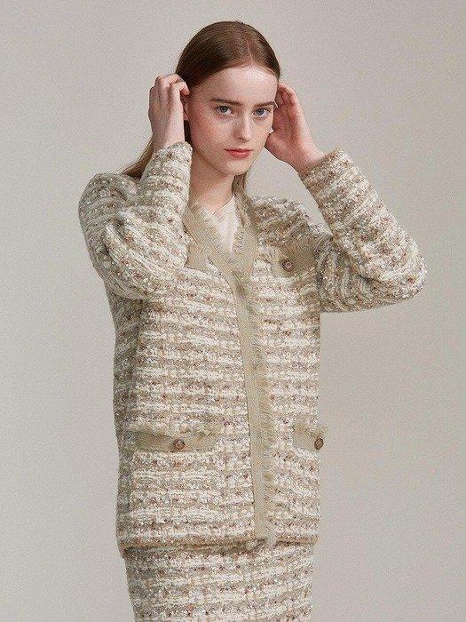 小香风针织外套