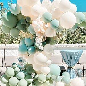 植物绿主题色 Party装饰套装130件套