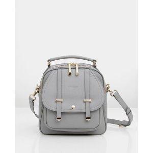 Camila Leather Backpack - 灰色