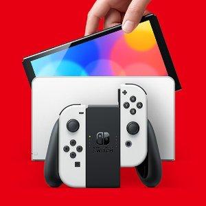 5折起 任天堂热门游戏打折Nintendo Switch专区 长续航主机$439,新款Switch抢先购