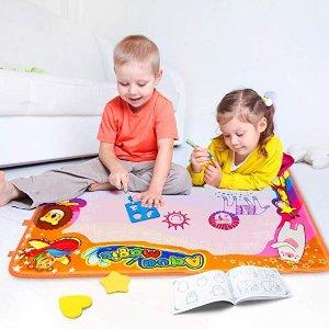 $8.99(原价$19.99)史低价:Betheaces 有魔力的儿童水绘毯,88X57厘米