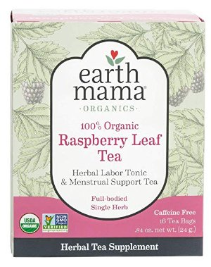 $4Earth Mama Organic Raspberry Leaf Tea Bags for Menstrual Support, 16-Count