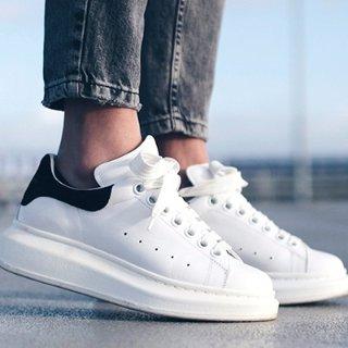 至高送$600礼卡 彩尾小白鞋多色码全Alexander McQueen 精选热卖 经典骷髅头系列大促