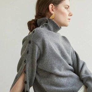 3.5折起+叠9折 €85收封面羊毛衫KINDERSALMON 独立设计师品牌 平价版Celine