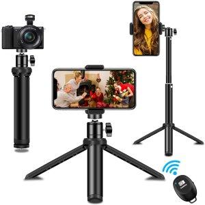 仅需€12.99SYOSIN 蓝牙遥控三脚架 支持多种设备 vlog拍摄直播利器