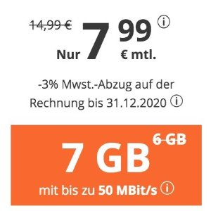 月租仅€7.99 代号入网送€6.82
