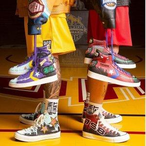 官网已上架 Chuck70定价£100Converse x Chinatown Market 联名鞋NBA系列 冠军荣誉重现
