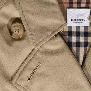 5折 $497收拼色羽绒服Burberry 惊喜折扣 $175收 logo 短袖 $999收系带风衣