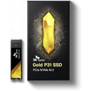 500GB低至$59.99SK hynix Gold P31 PCIe3.0 x4 固态硬盘