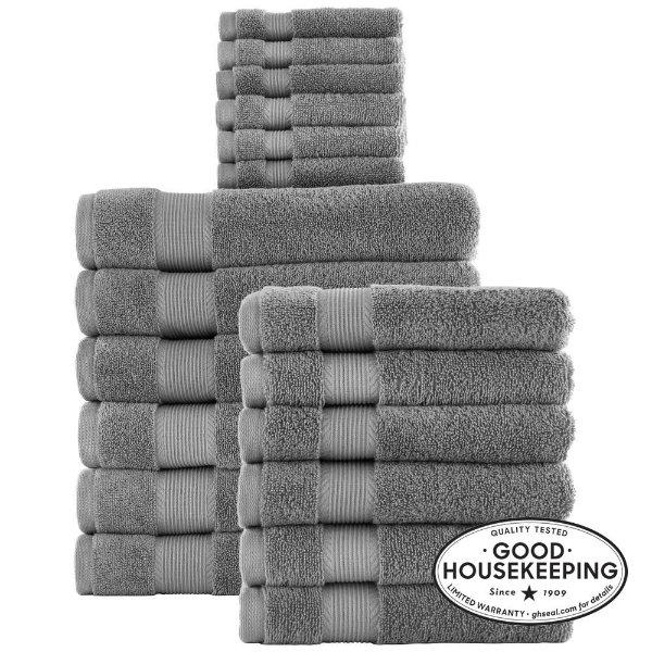 纯棉毛巾18件套 多色可选