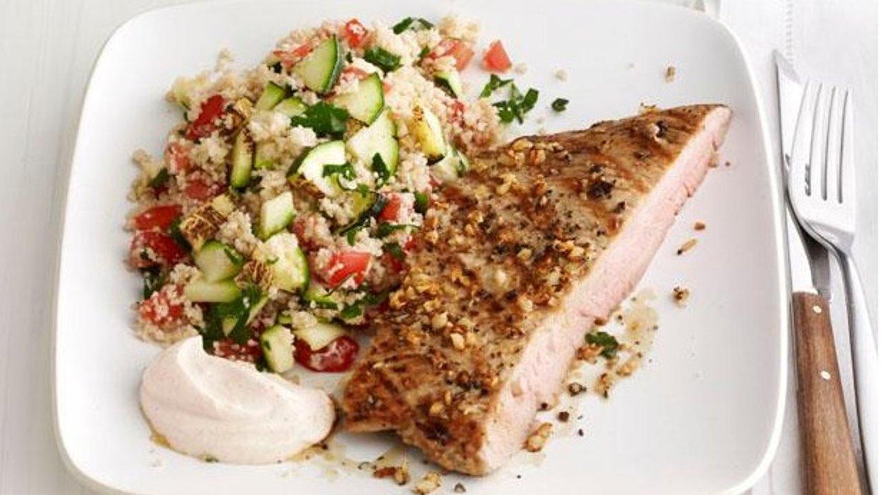 简单西餐:美式猪排西兰花库斯 Pork ribs couscous