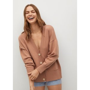 MangoButton knit cardigan - Women | Mango USA