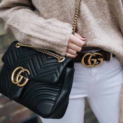 Gucci双G皮带£275 已包含进口税
