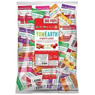现价$21.99 一颗只需$0.07YumEarth 有机水果棒棒糖 超大5磅包装 300只