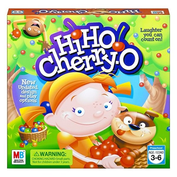 Hasbro Hi Ho Cherry-O Board Game, Practice counting, numbers and math, Preschool, Ages 3 and up (Amazon Exclusive)