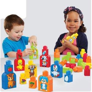 $9 (原价$17.97)圣诞送什么:Mega Bloks 动物主题儿童积木玩具40件套