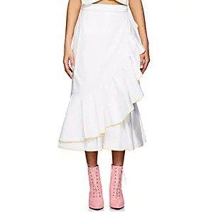 MariannaRuffle Cotton Wrap Skirt Ruffle Cotton Wrap Skirt