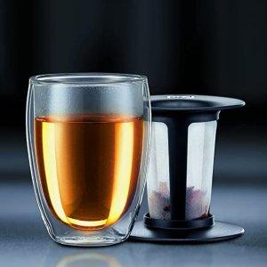 折后仅€15.99 多款可选Bodum 过滤茶杯 Tea for One系列 下午茶独享时刻